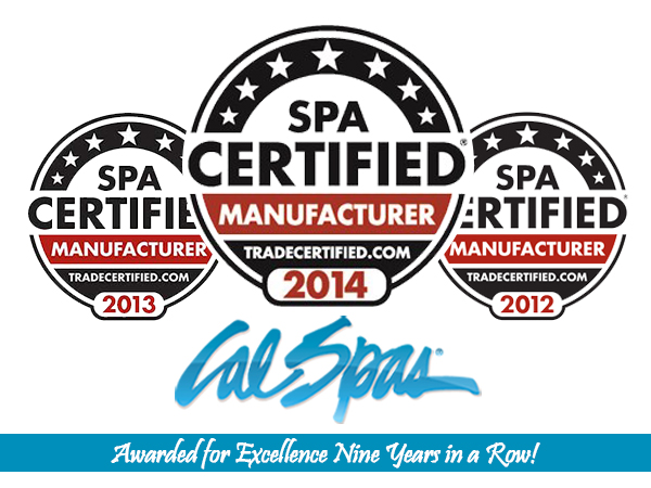 Cal Spas Honored with TradeCertified Award